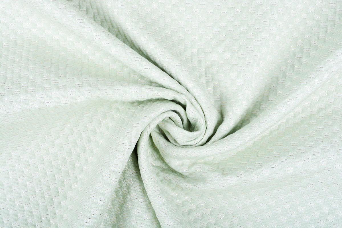 Lurex Emboss Pastel Mint Groen