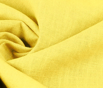 Washed Linen Citron Yellow
