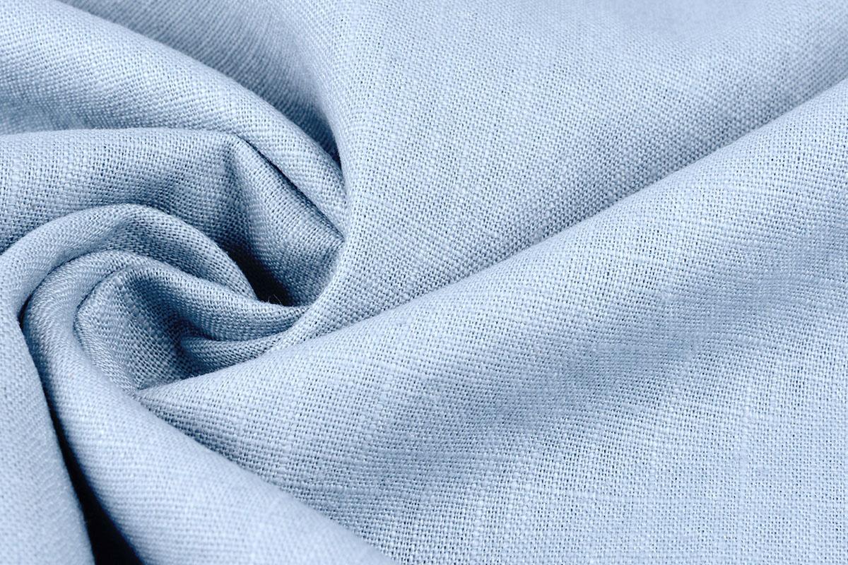 Gewaschene Leinen Baby Blau