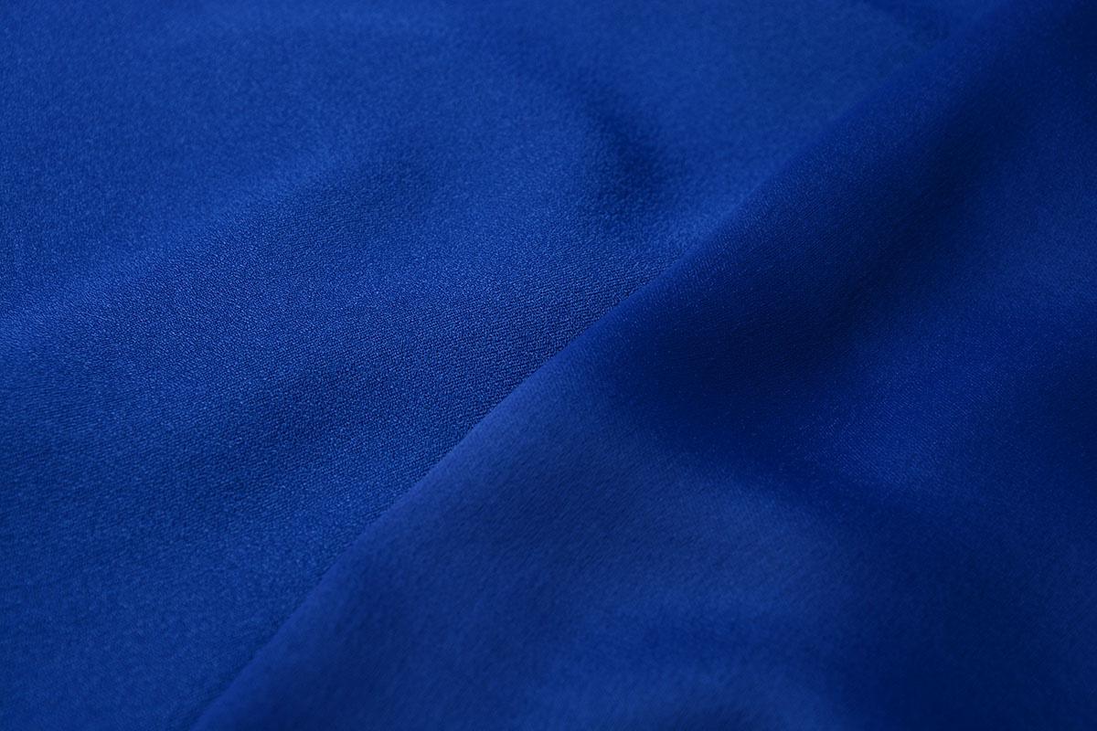 Stretch crepe satijn 2 sides Kobalt Blauw