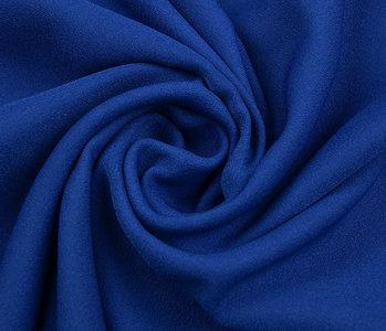 Stretch crepe satin 2 sides Cobalt blue
