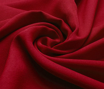 Stretch crepe satin 2 sides Red