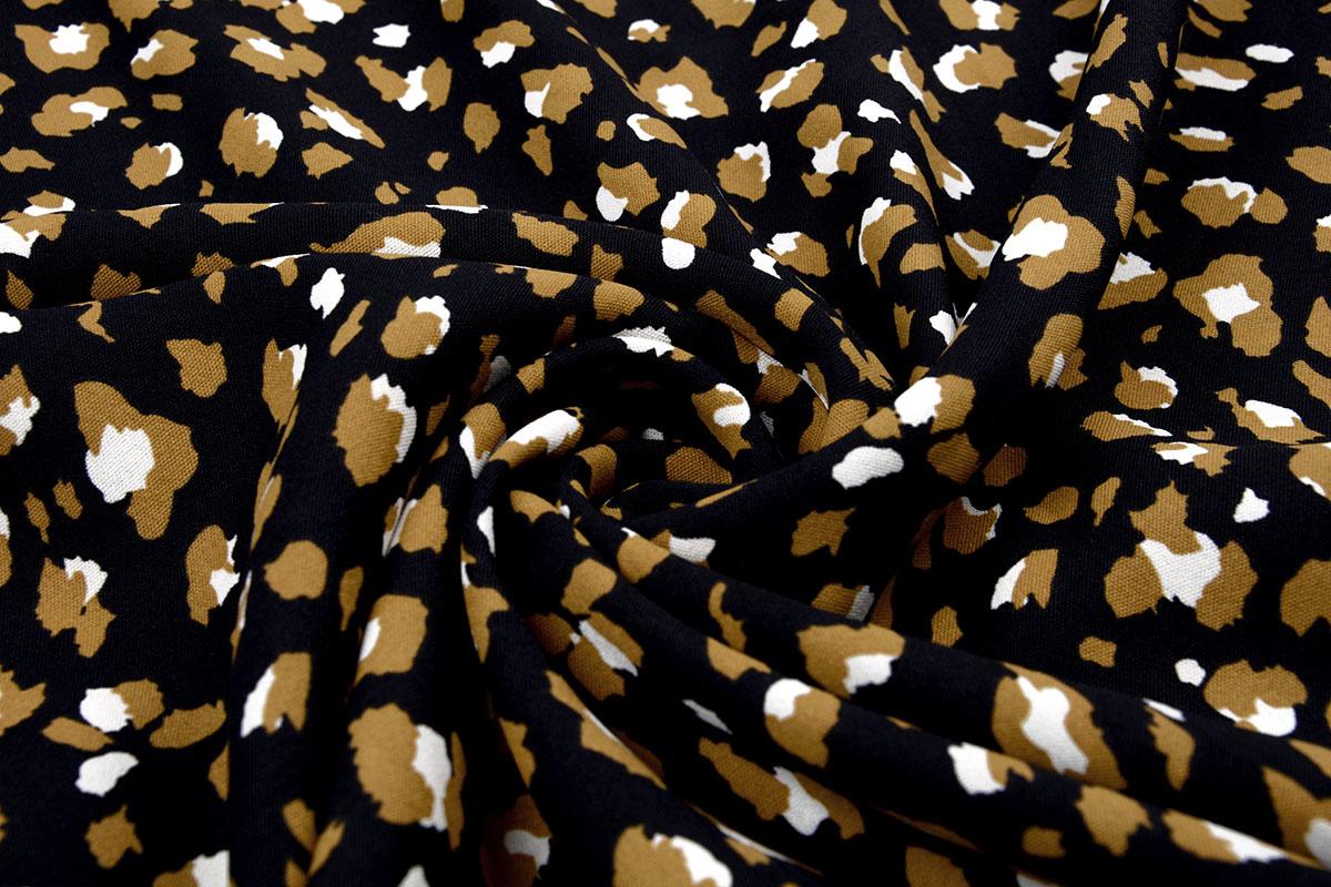 Crepe polyester Panther Schwarzbraun
