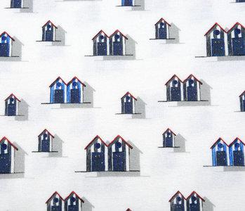 Baumwolljersey Ferienwohnungen Blau