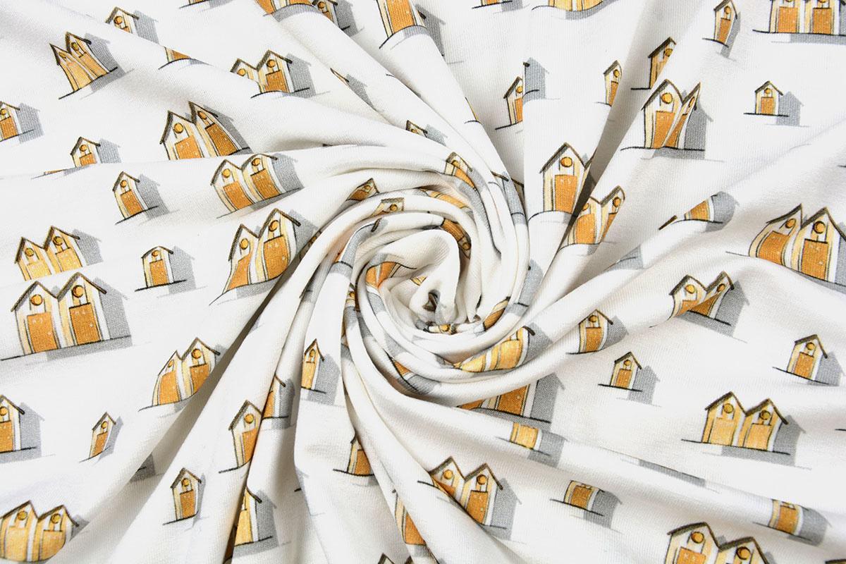 Cotton Jersey vakantiehuisjes Geel