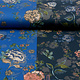 Travel Crepe  Simmer Flowery Zweifarbiges Blau