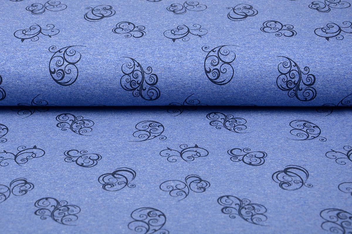 Mi & Joe Mi & Joe Jersey Stoff Baumwolle Krul Dunkel jeans Meliert