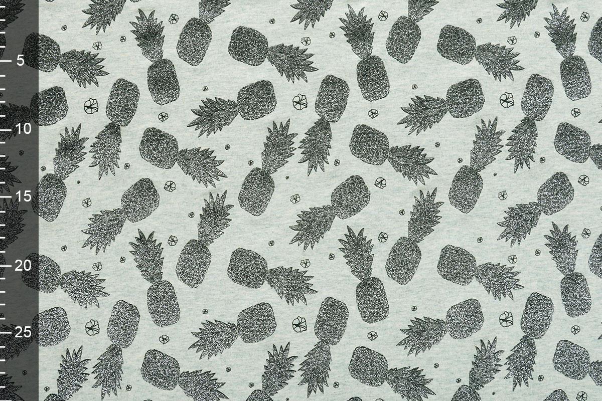 Mi & Joe Mi & Joe Cotton Jersey Ananas Pistache melange