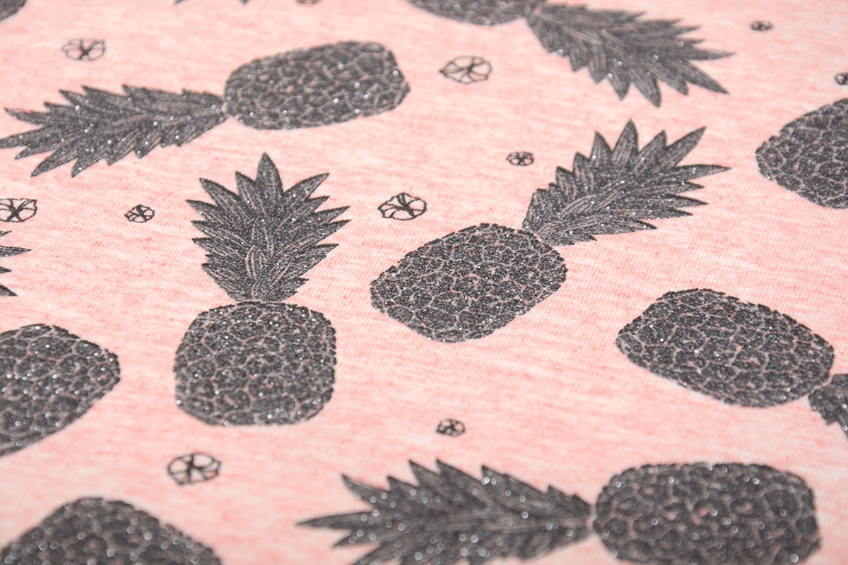 Mi & Joe Mi & Joe Cotton Jersey Ananas Koraal melange