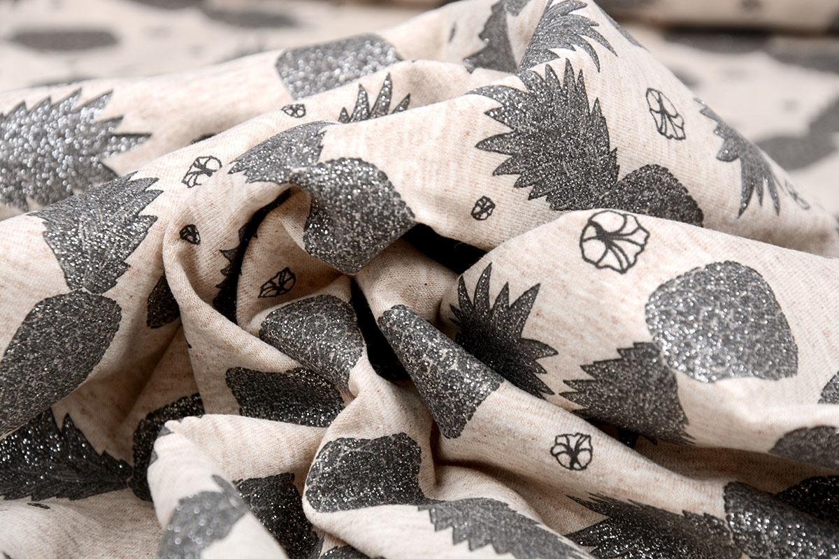 Mi & Joe Mi & Joe Jersey Stoff Baumwolle Ananas Beige Meliert