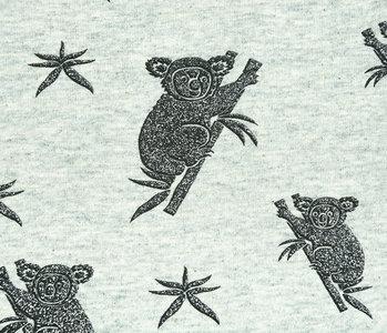 Mi & Joe Mi & Joe Jersey Stoff Baumwolle Koala Pistache Meliert