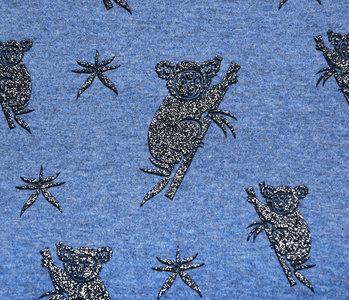 Mi & Joe Mi & Joe Jersey Stoff Baumwolle Koala Dunkel jeans Meliert