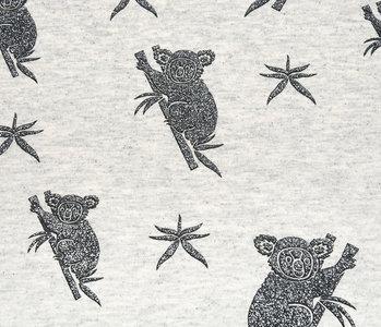 Mi & Joe Mi & Joe Jersey Stoff Baumwolle Koala Creme Meliert
