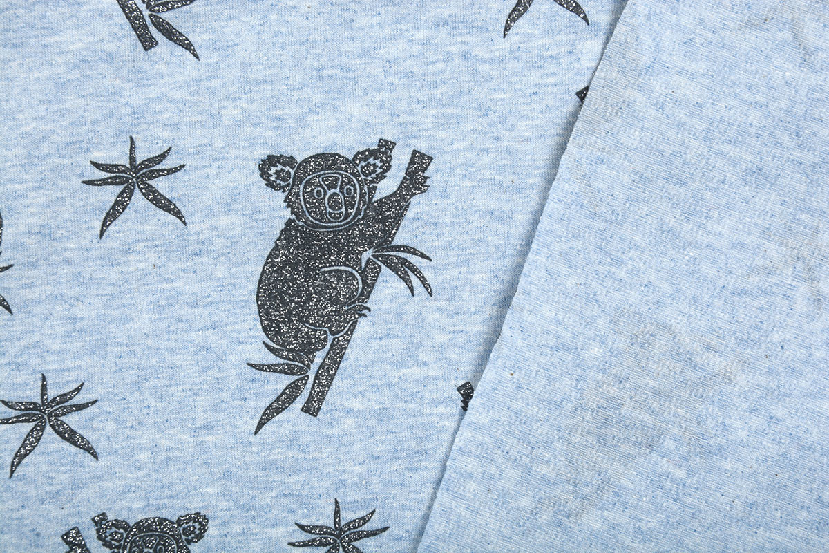 Mi & Joe Mi & Joe Cotton Jersey Koala Licht blauw melange