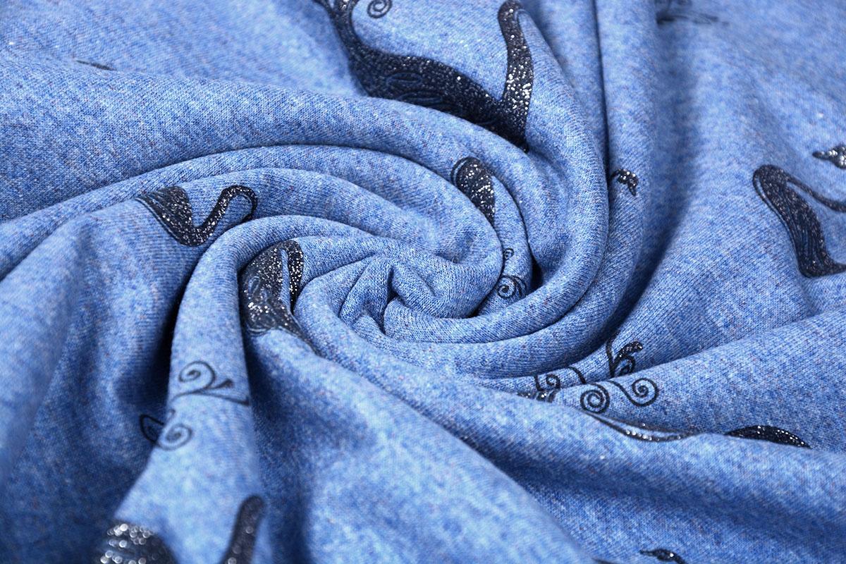 Mi & Joe Mi & Joe Cotton Jersey Zwaan Donker jeans melange