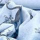 Mi & Joe Mi & Joe Cotton Jersey Zwaan Licht blauw melange