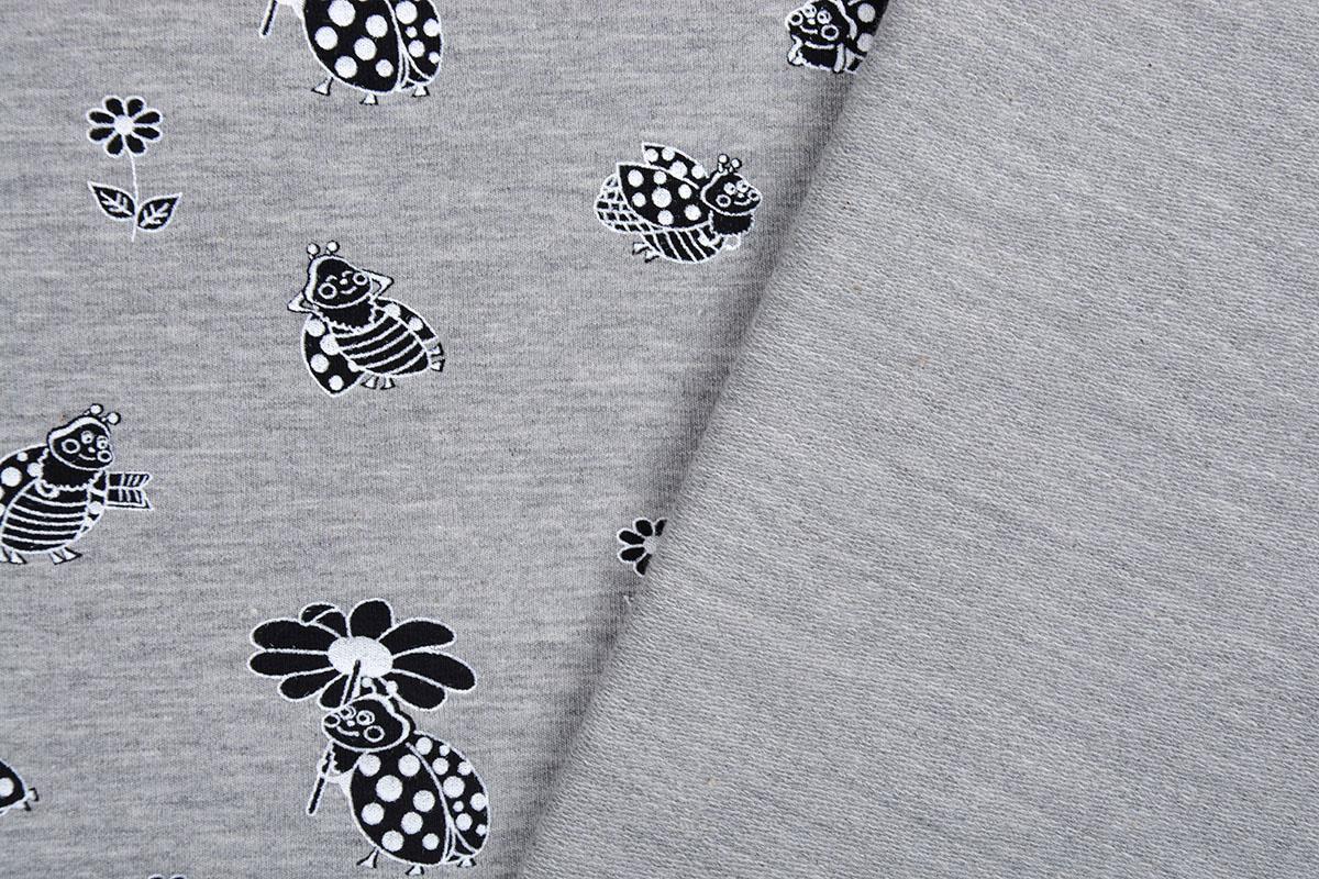 Mi & Joe Mi & Joe French Terry Lieveheersbeestje met bloem Grijs Melange
