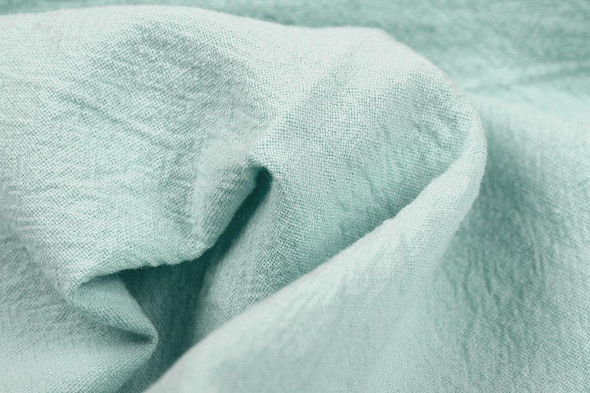 100% Baumwolle Gewaschene Helles altes Grün