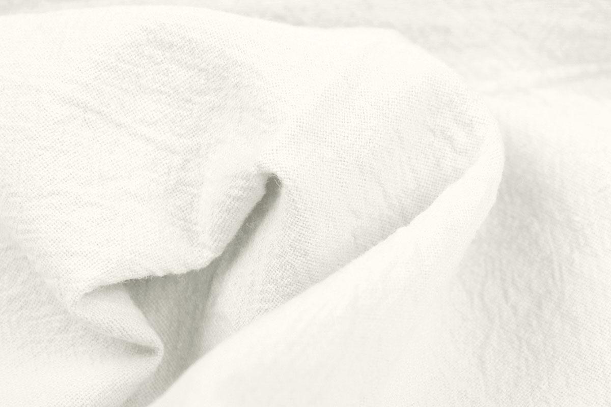 100% Baumwolle Gewaschene Creme