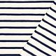 Baumwolljersey Großer Kleine Streifen Creme Marineblau