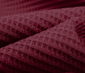 Oeko-Tex®  WaffelStoffe Bordeaux