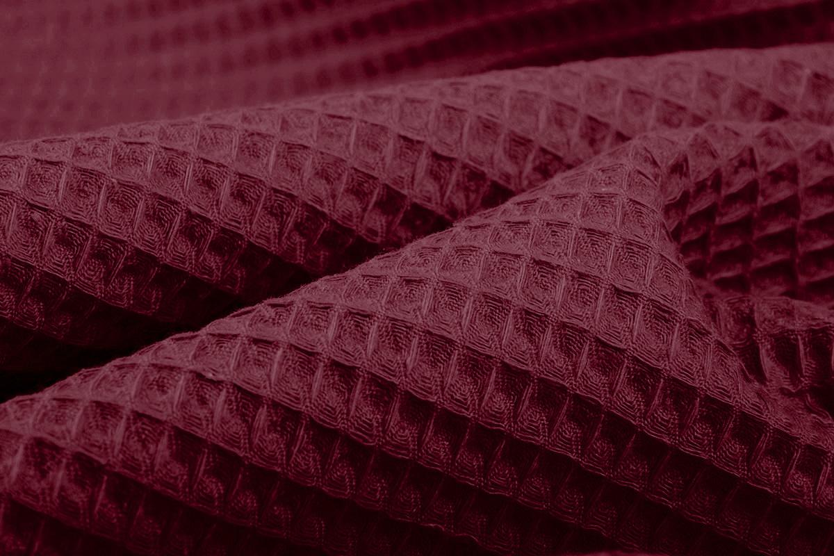 Oeko-Tex®  Wafel Katoen Bordeaux