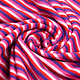 Cotton Jersey Streep Multi color Roze