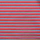 Cotton Jersey Streep Multi color Rood