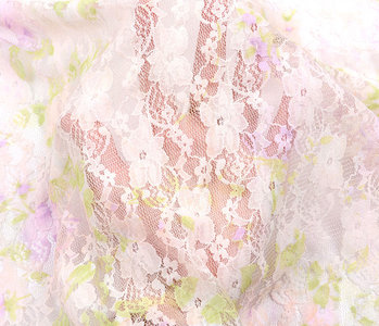 Stretch lace Hilo Pink Green