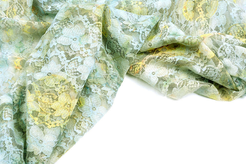 Stretch Lace Hilo Old Green Yellow