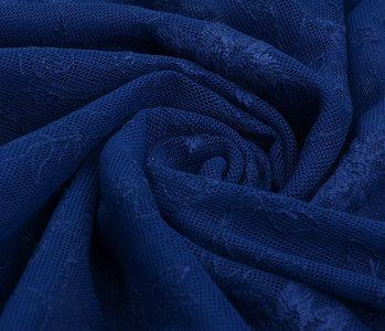 Kant Jasmijn bloem Kobalt blauw