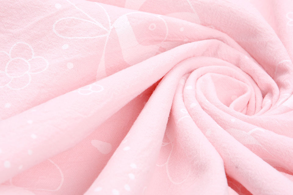 100% Gewassen Katoen  Bijtje Licht Roze