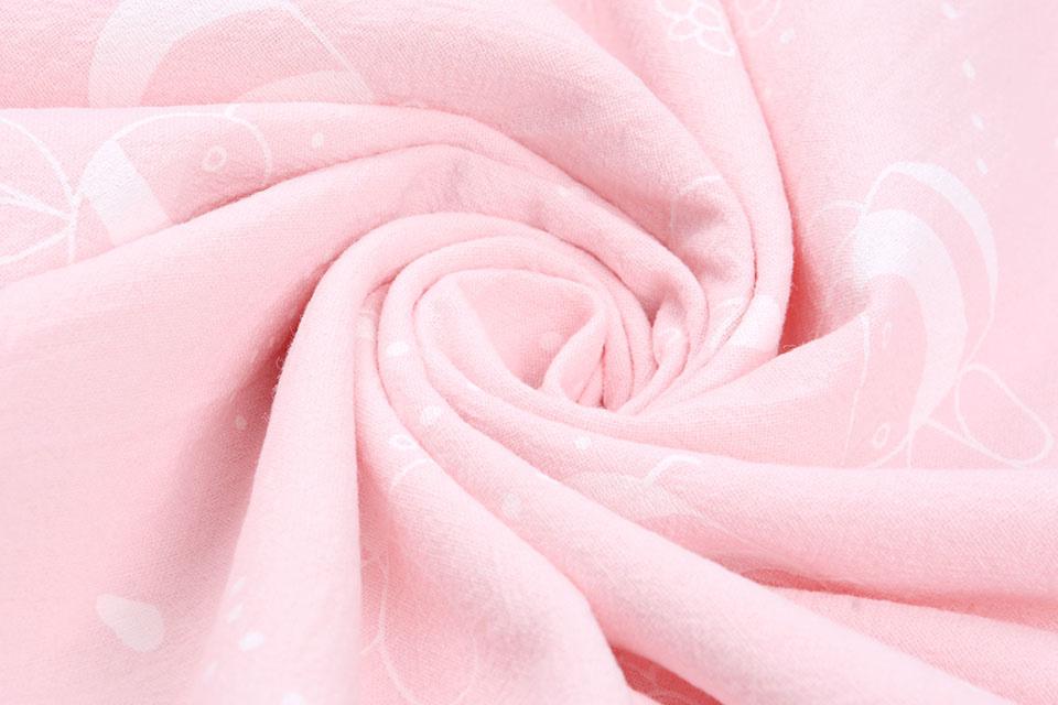 100% Katoen Gewassen Bijtje Licht Roze