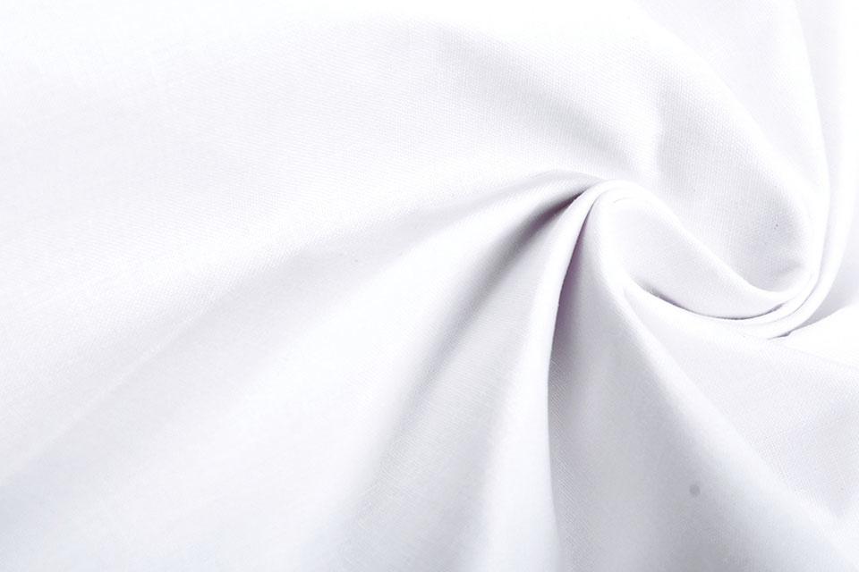 Krankenschwester Popeline Weiß