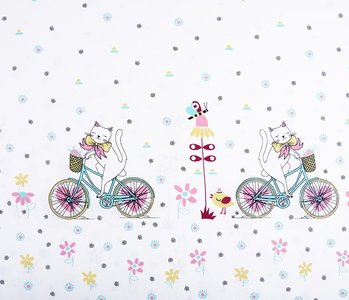 Double edge Cotton Biking cat