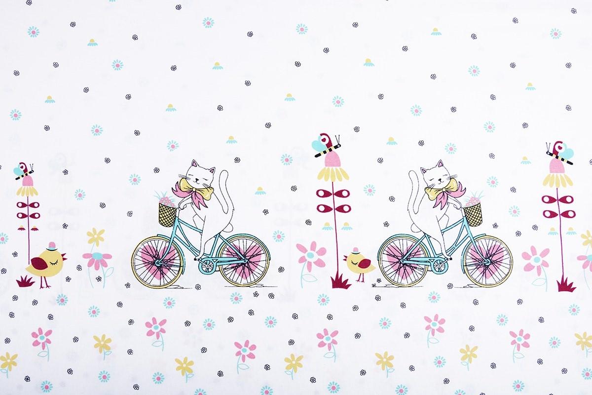 Doppelter Rand Baumwolle Radfahrende Katze