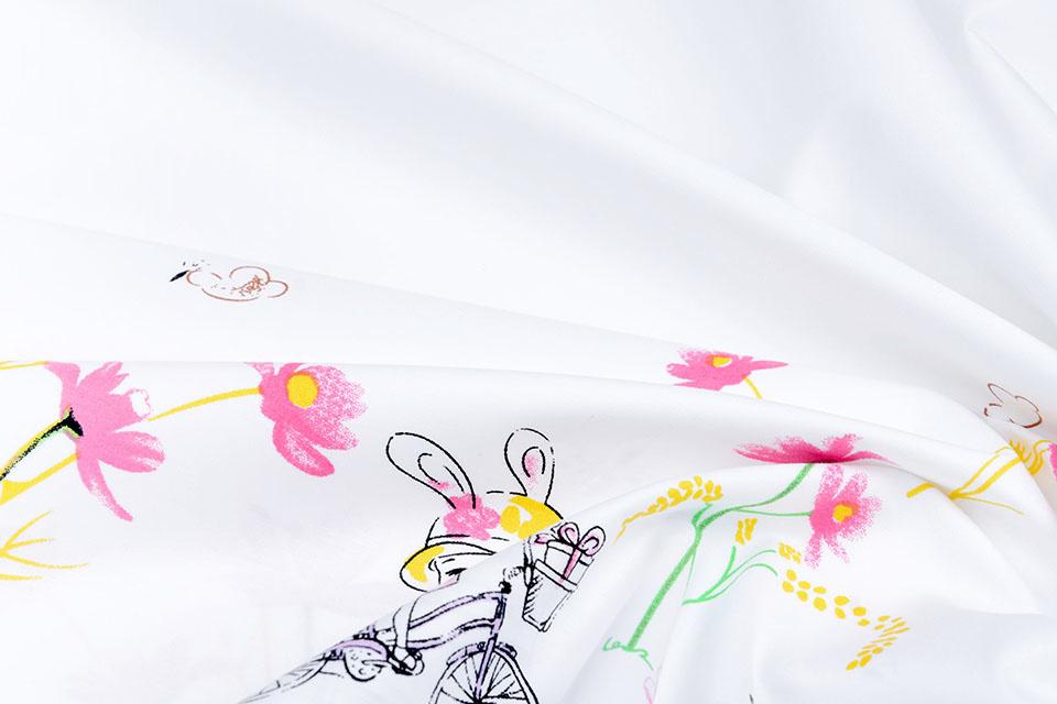 Doppelter Rand Baumwolle  Frühlingsradhasen
