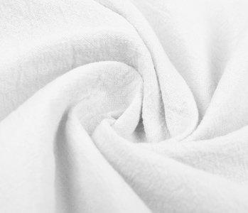 100% Baumwolle Gewaschene Weiß