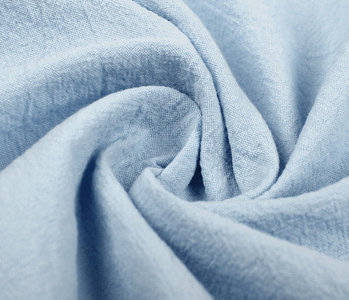 100% Washed Cotton Baby Blue