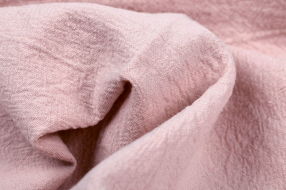 100% Gewaschene Baumwolle Puderrosa