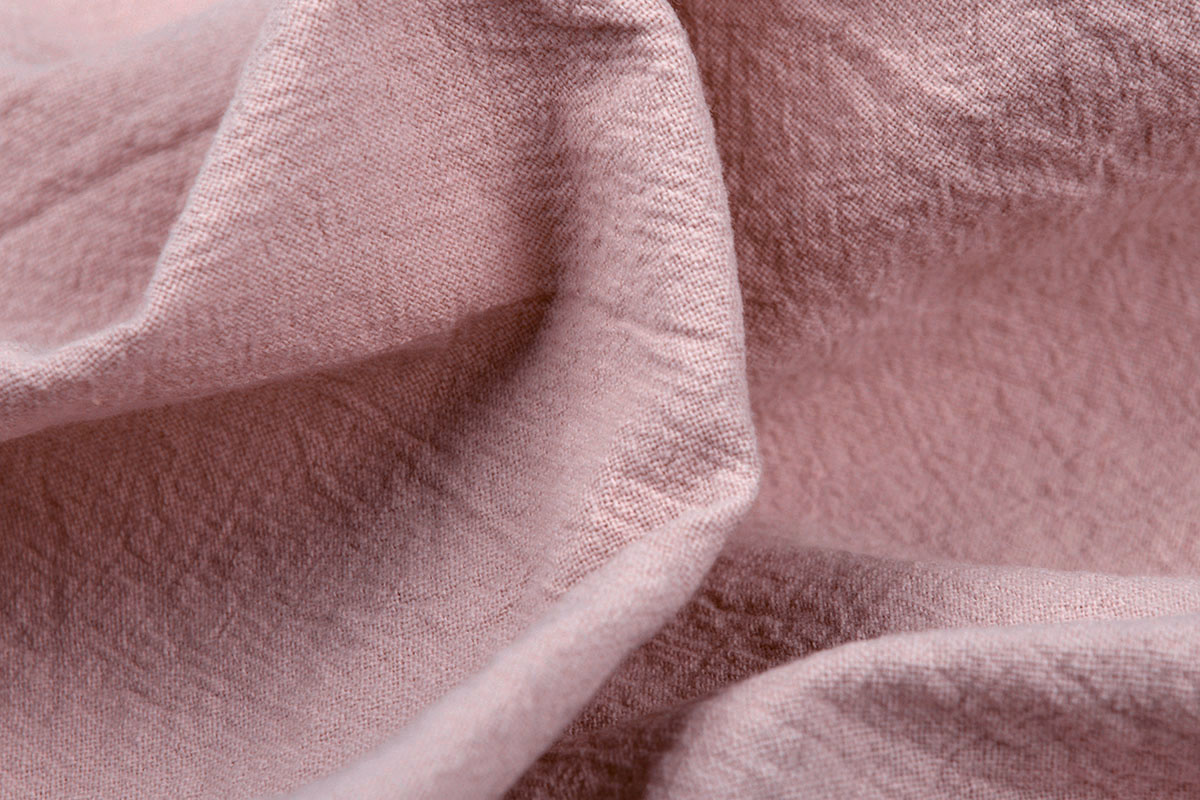 100% Gewassen Katoen Poeder Roze