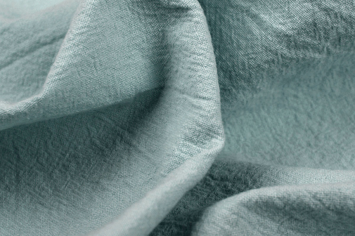 100% Gewaschene Baumwolle Alt Grün