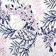 Mesh Geborduurd Flors Marineblauw