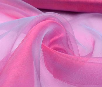 Organza Stoff Two-Tone Blau-Rosa