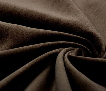 Cotton Velvet Fabric Donn Mocha Brown
