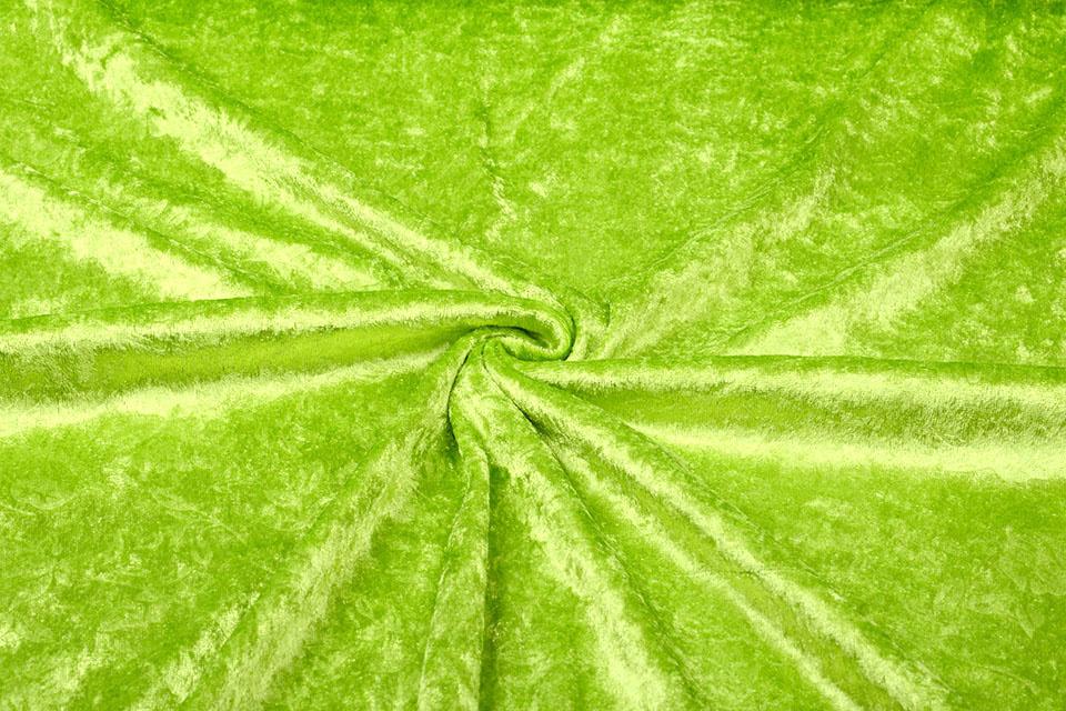 Velours de Panne Kukka Lime