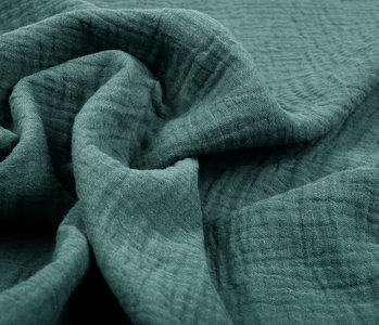 Double Gauze Fabric Dark Old Green