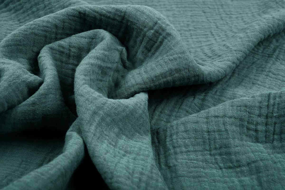 Baumwoll Musselin Stoff Dunkles altes Grün
