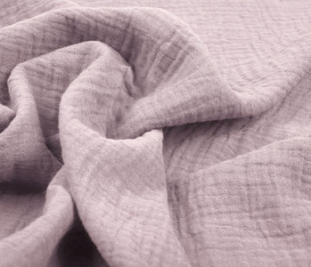 Baumwoll Musselin Stoff Helles altes Rosa