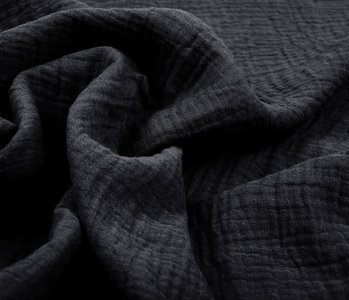 Double Gauze Fabric Dark grey